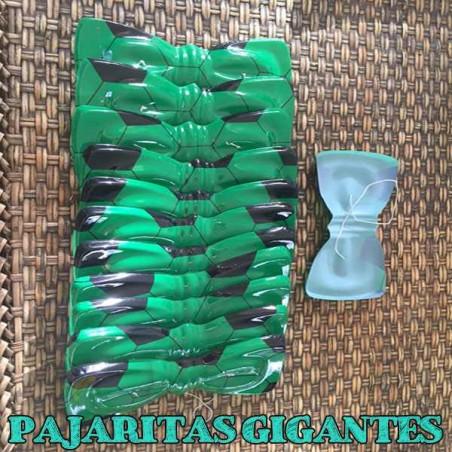 Pajaritas de plástico balones fútbol