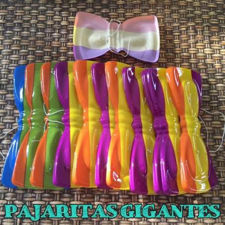 Pajaritas de plástico rayas orgullo