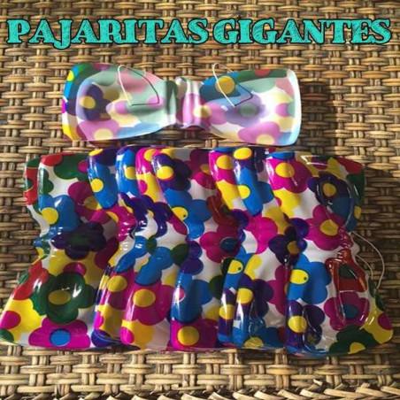 Pajaritas de plástico flower hippie