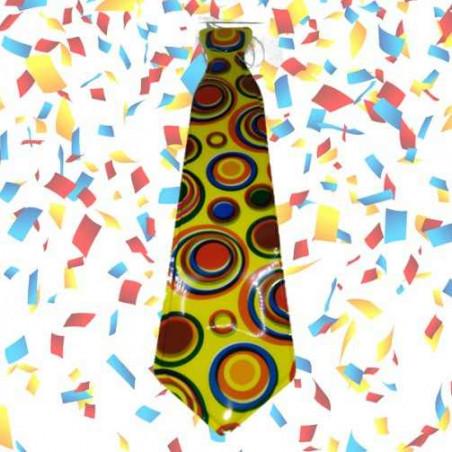 corbatas circulos photocall