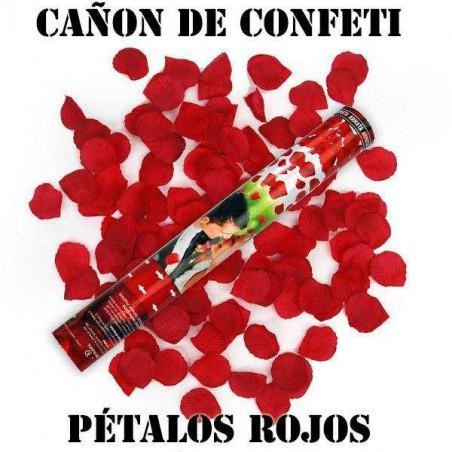 CAÑÓN CONFETI ROSAS PETALOS