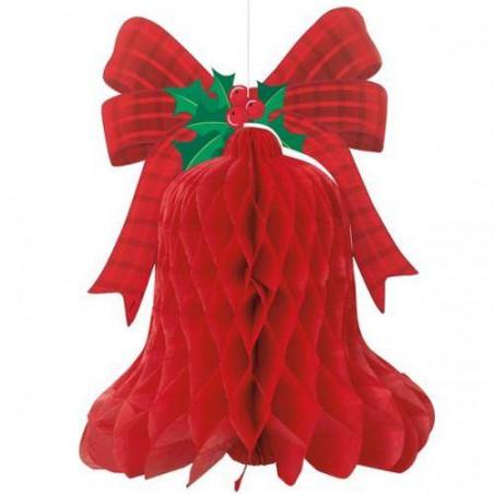 guirnalda campana de navidad 40cm