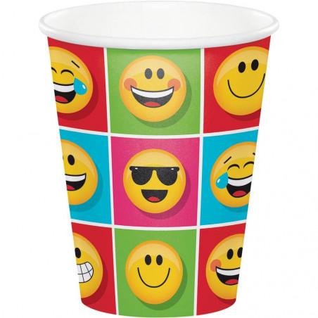 8 vasos fiesta emoji