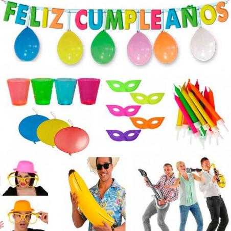 Lote 100 productos decoración cumpleaños