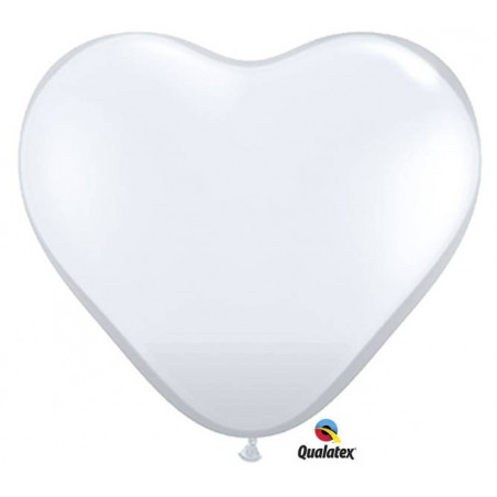 Globos corazón blanco