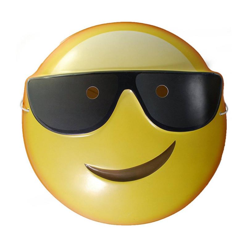 Caretas para fiestas con forma de emoji whatsapps gui o - Emoticono gafas de sol ...