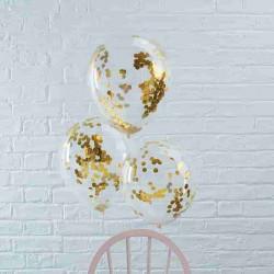 globos confeti dorado
