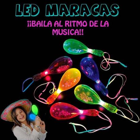 Maracas con luz led