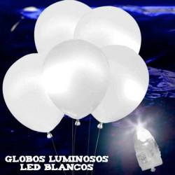 Globos luminosos blancos