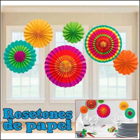7 Rosetones decoración colores vivos fiestas