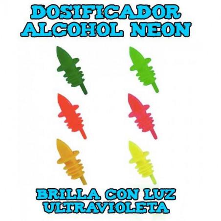 Dosificador de alcohol neon luz UV