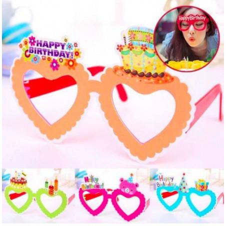 Gafas cumpleaños atrezzo surtidas