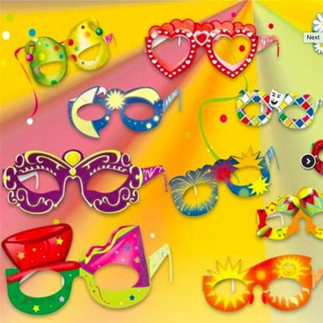 Gafas de cartulina para fiestas