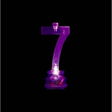 Velas cumpleaños Led número 7