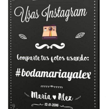 Cartel hashtag fiestas instagram