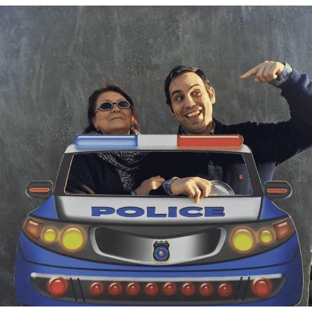 photocall coche policia fiestas