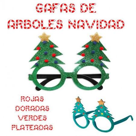 Gafas purpurina arboles navidad