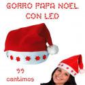 Gorro Papa Noel Fieltro Rojo Led