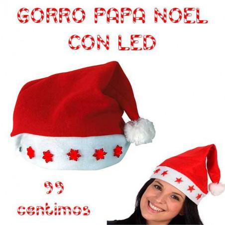Gorro  Papa Noel Led