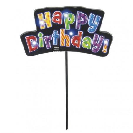 cartel feliz cumpleaños purpurina