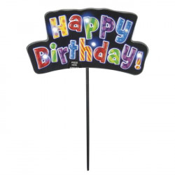 "vela luminosa tarta ""feliz cumpleaños"""