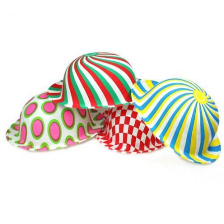 Sombrero Bombín payaso plástico variados