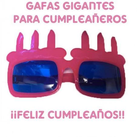 Gafas gigantes velas de cumpleaños