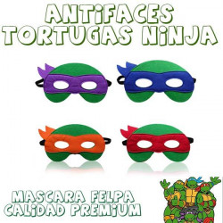 Máscara o antifaces de tortugas ninja
