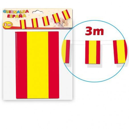 guirnalda de papel bandera España 3m