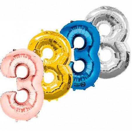 Globo numero 3 86 cm helio
