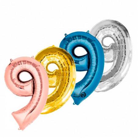 Globo número 9 86 cm helio