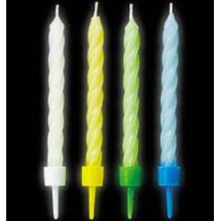 12 velas neon 8cm