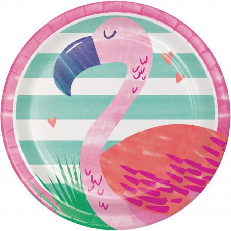 8 platos desechables fiesta verano pelicano