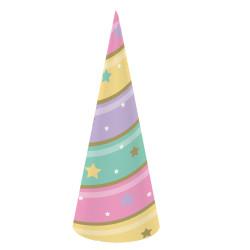 8 Gorros unicornio fiesta infantil