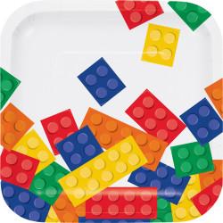 8 platos desechables fiesta LEGO
