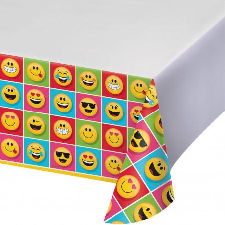 mantel plástico fiesta Emoticonos  137cm x 274 cm