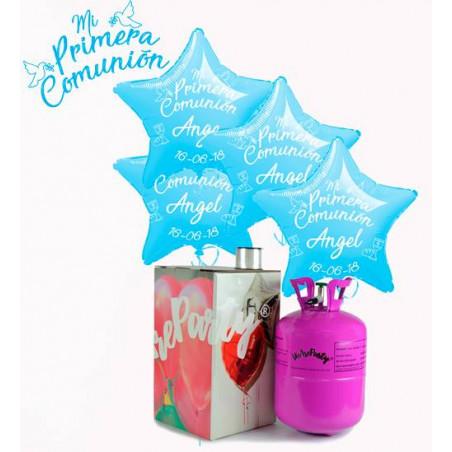 globos personalizados primera comunión niño