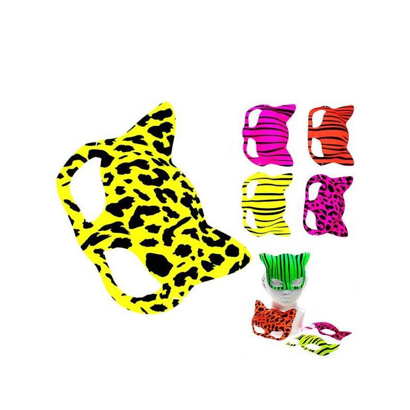 Máscaras de gato neon