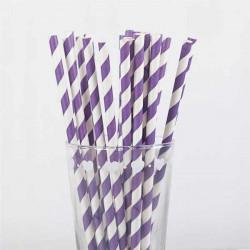 pajitas de papel rayas moradas purpuras