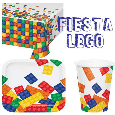 lote vajilla desechable fiesta LEGO