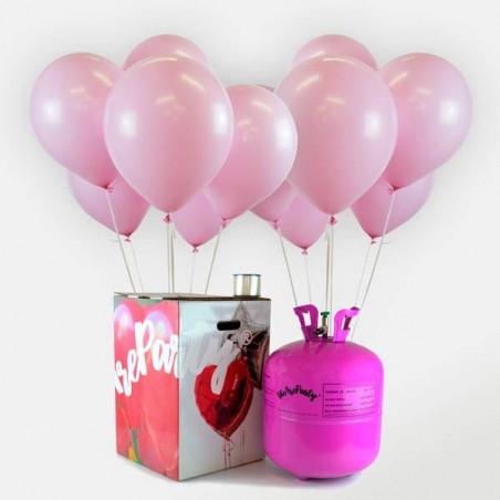 50 globos babyshower rosa + bomobona Maxi