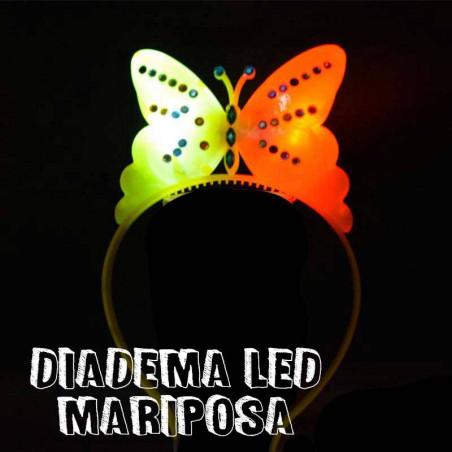 Diadema mariposa luminosa