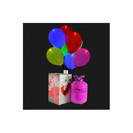 Pack Helio Mini + 30 globos luminosos LED Multicolor
