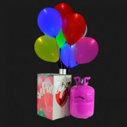 15 globos luminosos  bombona de helio