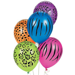 Globos neon estampado animal