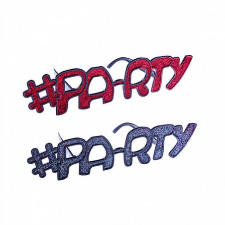 Gafas hashtag party gigantes