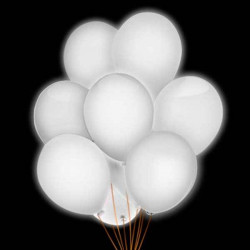 Globos luminosos blancos
