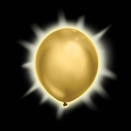 2 globos luminosos Dorados