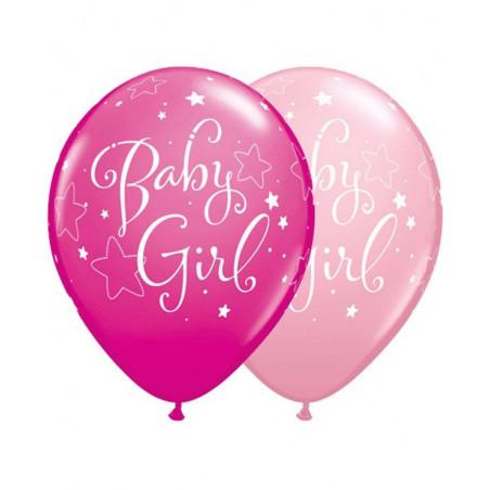 globos de bebe rosa