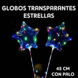 Globos transparantes luminosos 47cm